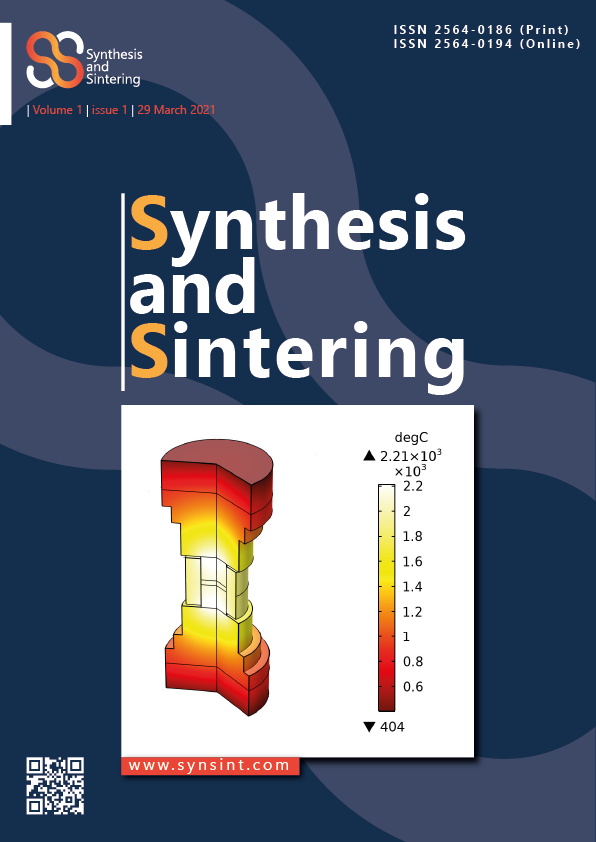 Synthesis and Sintering, Vol. 1, No. 1, 2021